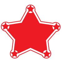 Custom Shape Roll Label - Star
