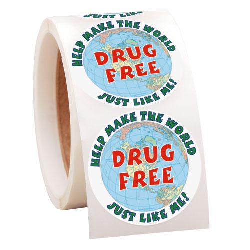 Drug Free Roll Label
