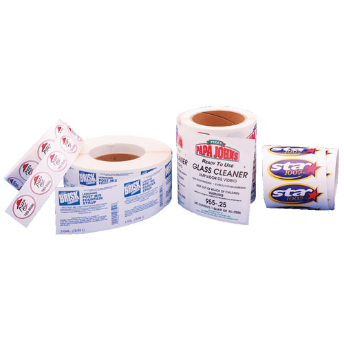 Row of Roll Labels