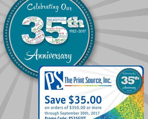 The Print Source, Inc. Celebrates 35th Anniversary