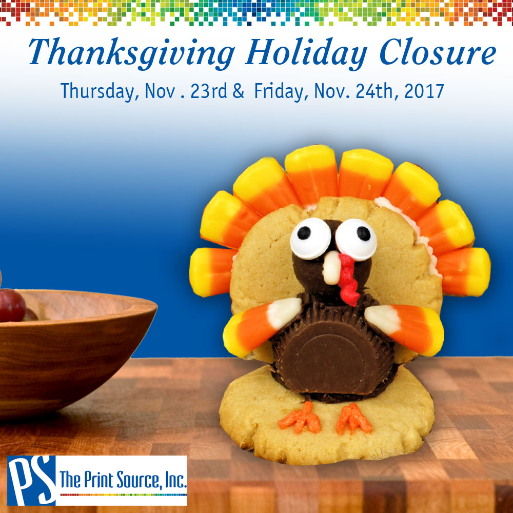 Thanksgiving Holiday Closure - Thursday, Nov. 23rd-Friday, Nov. 24th