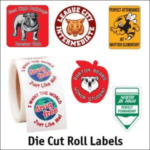 Die Cut Roll Labels