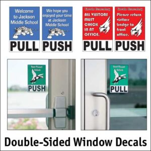 Double-sided window decals