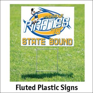 Fluted Plastic Sign Options