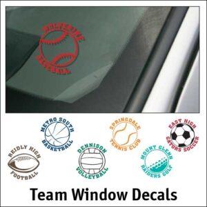 Team Window Decals