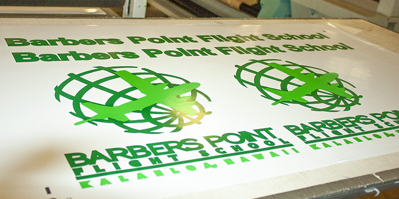 Business printing for Barbers Point Flight School